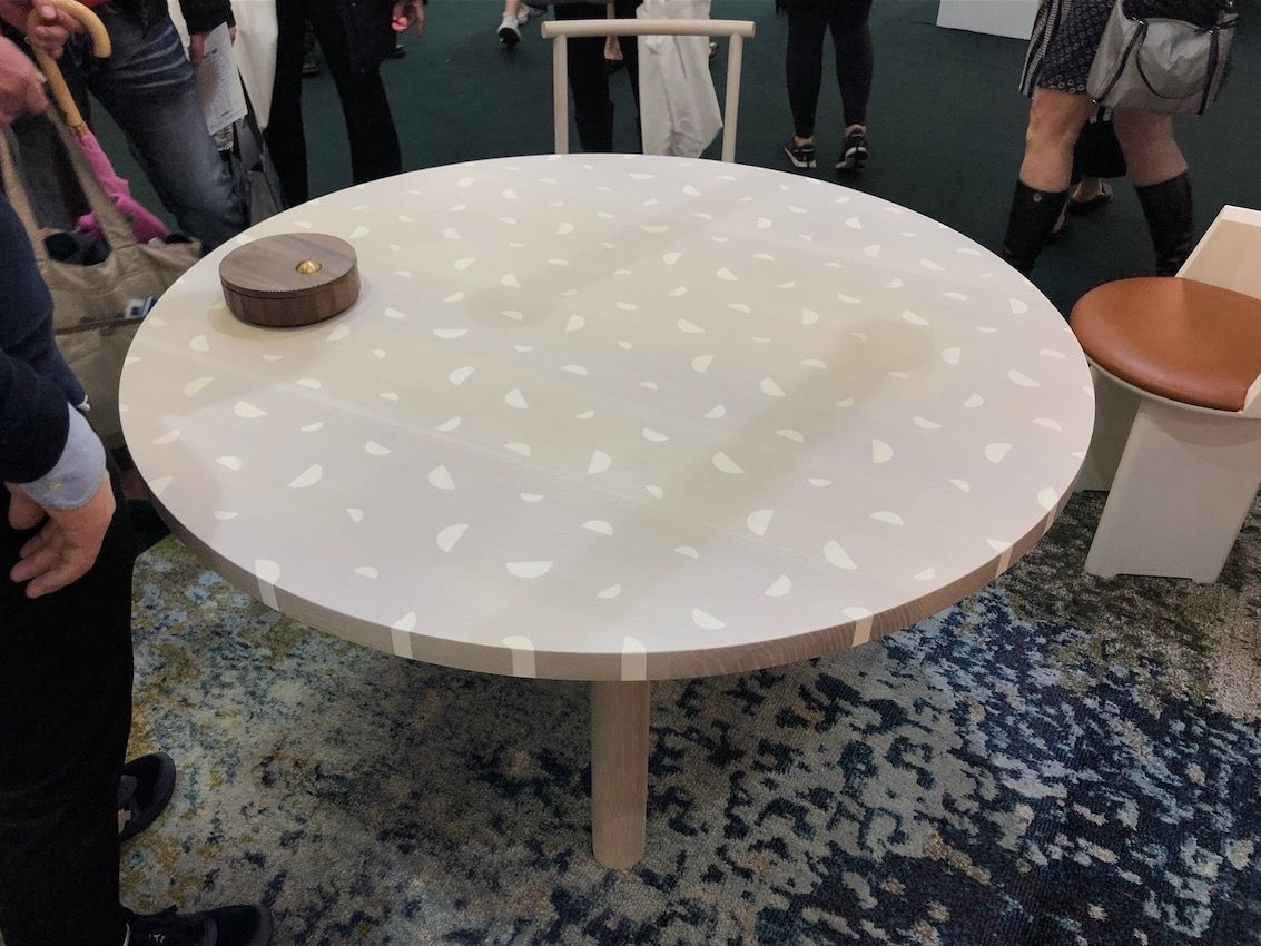 The use of resin in this table adds to its quiet appeal.