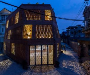 Hanoi perforated brick facade by Vietnamese studio H&P Architects - exterior