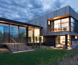 Contemporary Hillside House In Colorado Overlooks A Steep Ravine