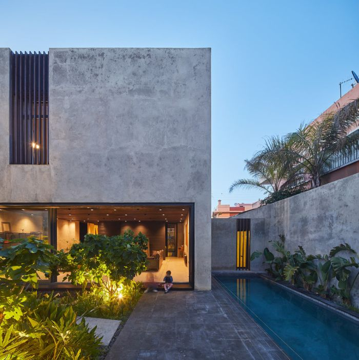 A Modern Inside Out Riad House Surrounded By Gardens