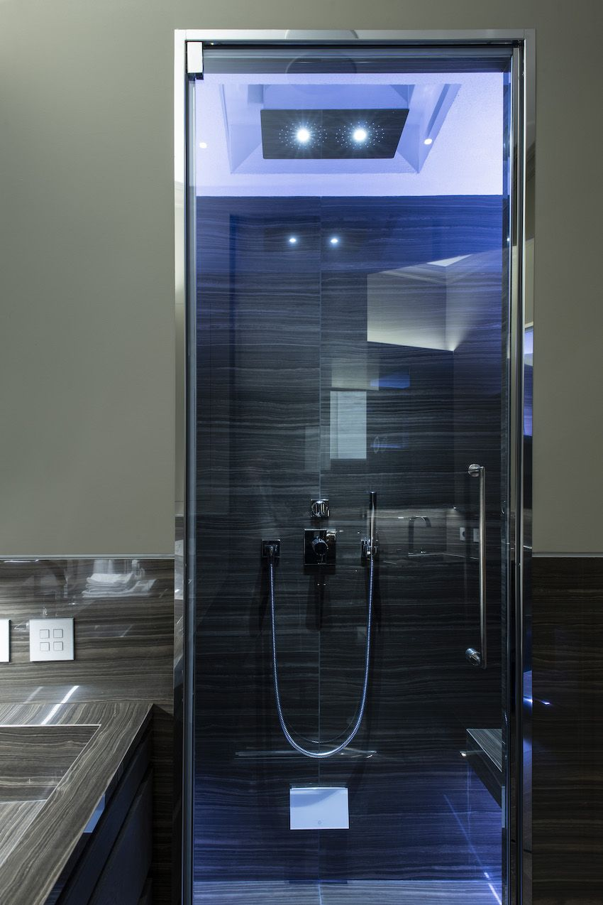 The rainfall shower may be the most luxurious feature.