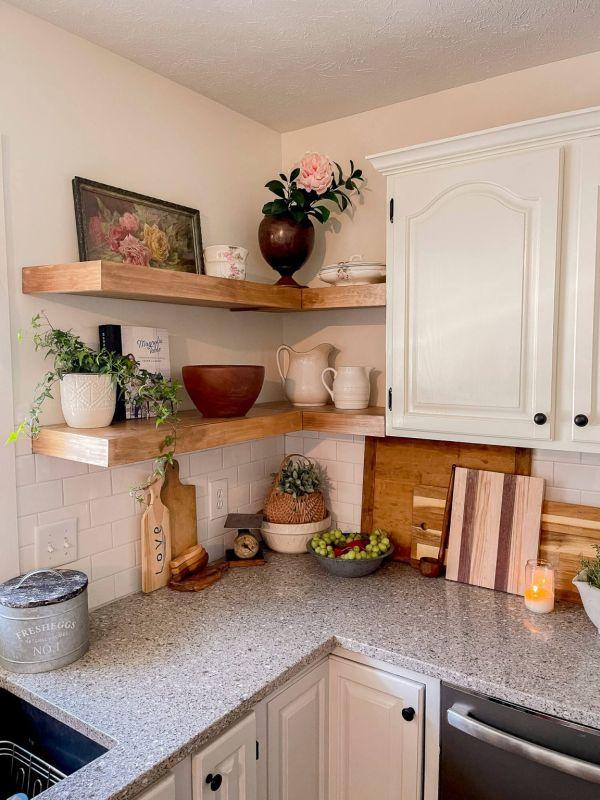 Make corner shelves from scratch