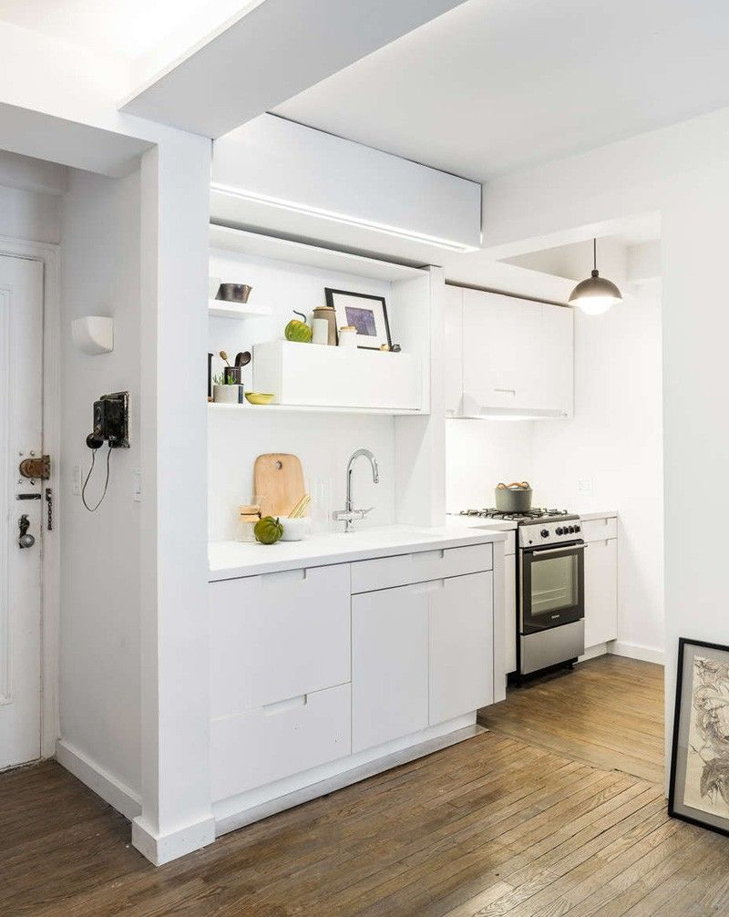 A clever and simple way to expand a tiny kitchen