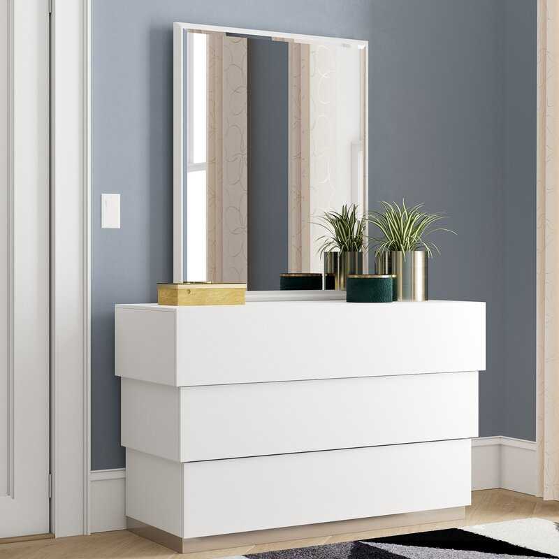 Minimalist chest of drawers with a modern twist