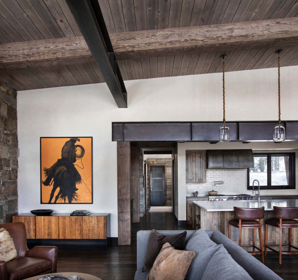 Colorful Western artwork adds color to the living spaces, adding a cheerful and modern touch to the decor