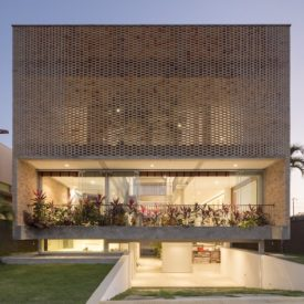 Perforated brick facade Residence
