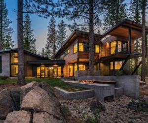 Gorgeous Prefab Mountain Cabin With A Semi Circular Layout