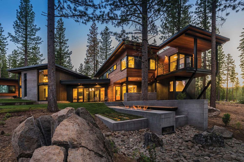 Gorgeous prefab mountain cabin with a semi circular layout - Architectural designers near me ...