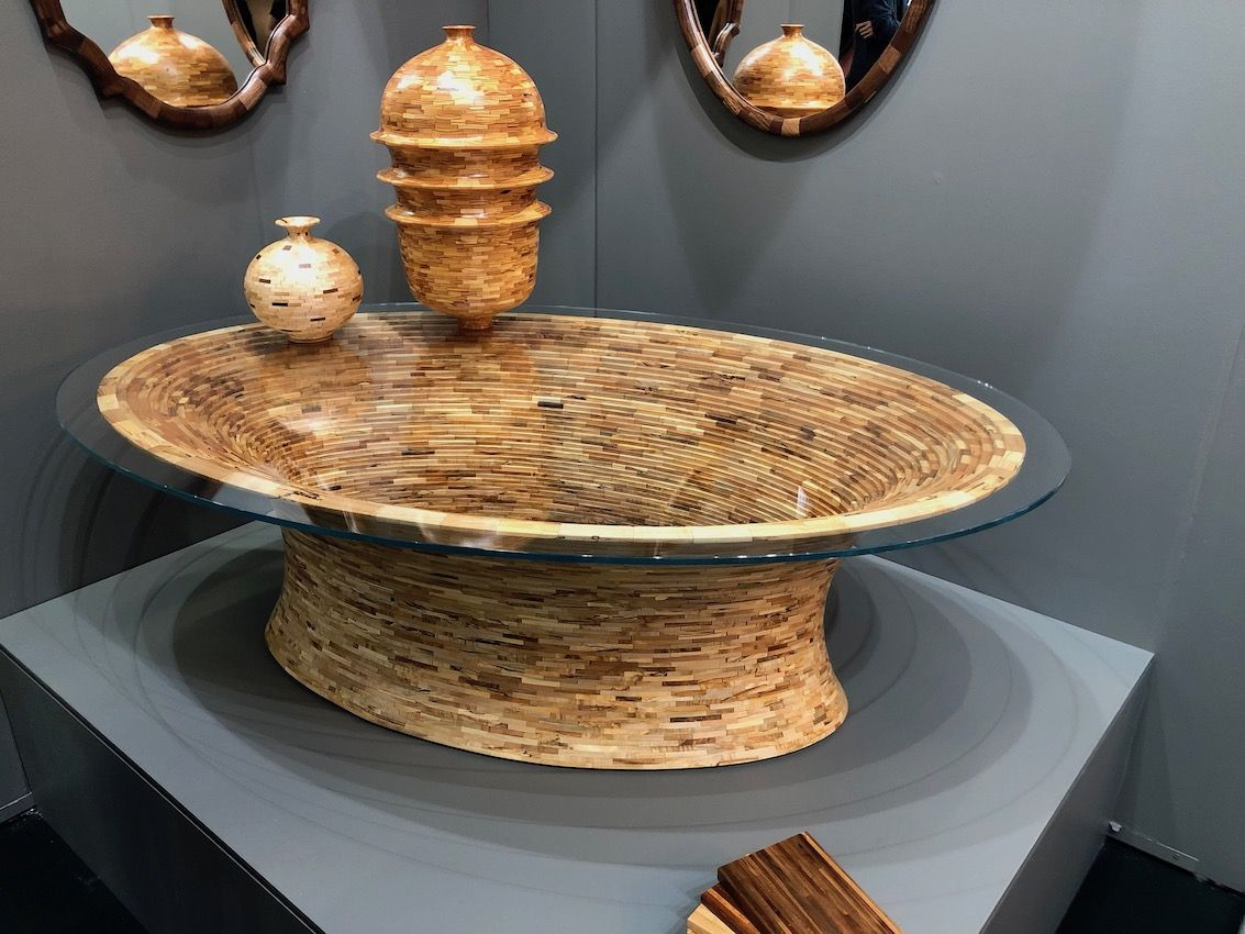 Discarded wood pieces are transformed into stunning new works.