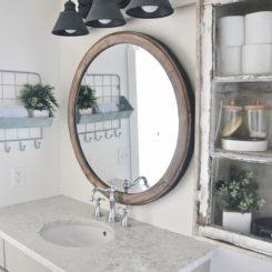 Round famrhouse mirror