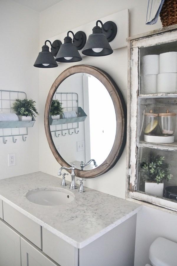 Farmhouse Bathroom Decor, Cottage Bathroom Mirror Ideas