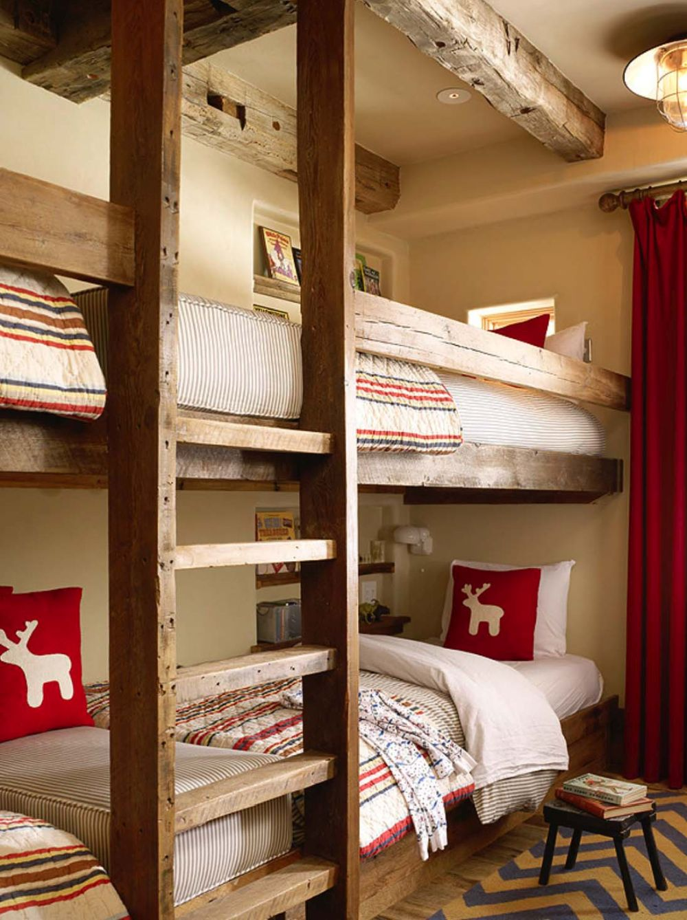 Two of the six bedrooms are meant to be kids' rooms and have bunk beds