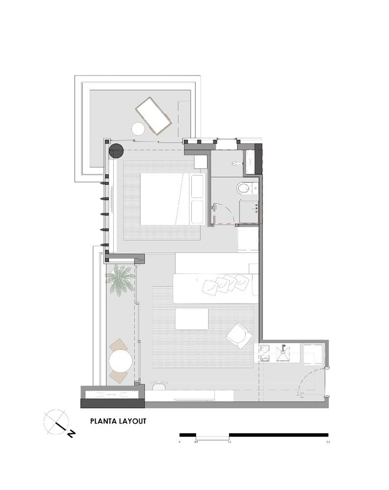 This is the apartment's floor plans, detailing how the spaces interact with each other
