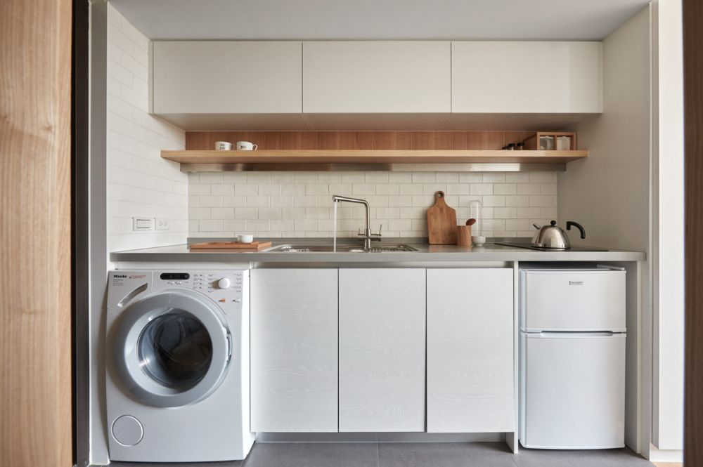 Clever kitchen and laundry room combo
