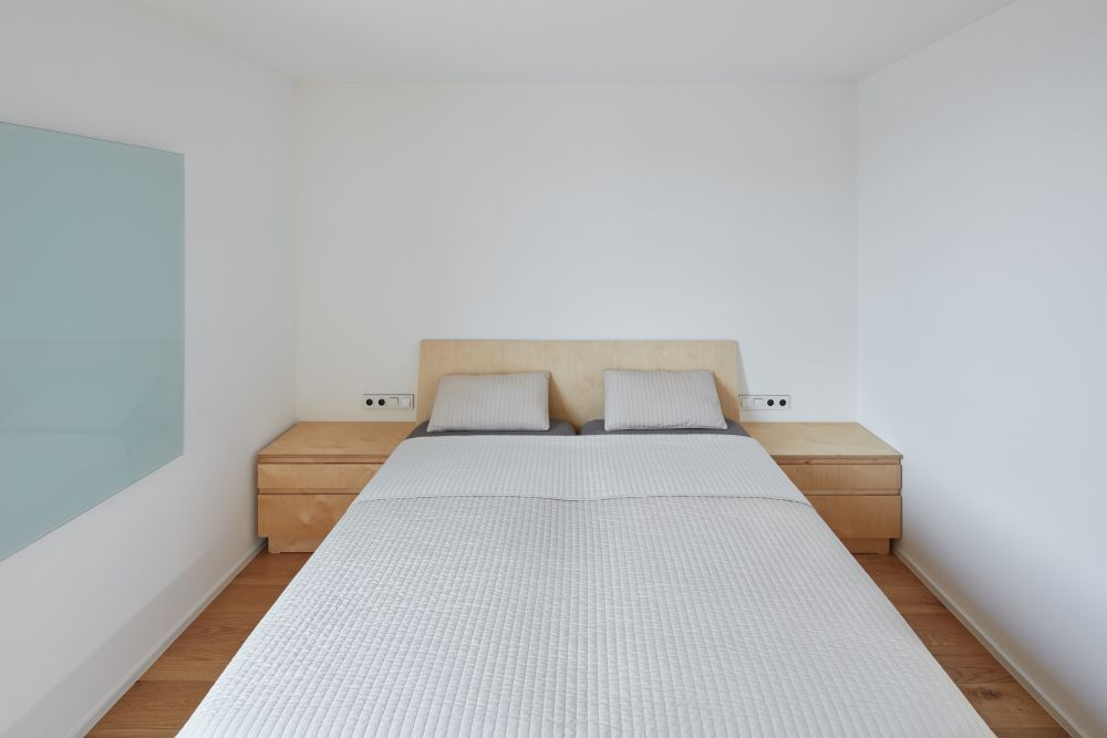 The bedrooms are very simple as well as very small, with enough space for the bare essentials and nothing more