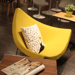 There's nothing sunnier than a yellow accent piece.