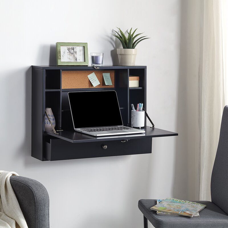 A Hidden Floating Desk Cupboard