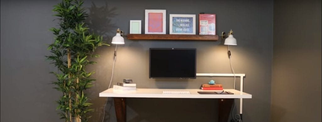 A White Wall-Mounted Desk for a Modern Home