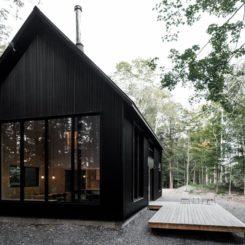 Austin Black a frame house design