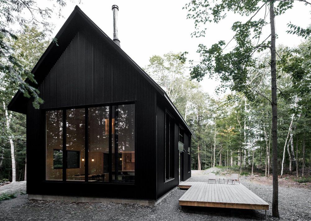 Red Brick House Exterior Modern Black Windows