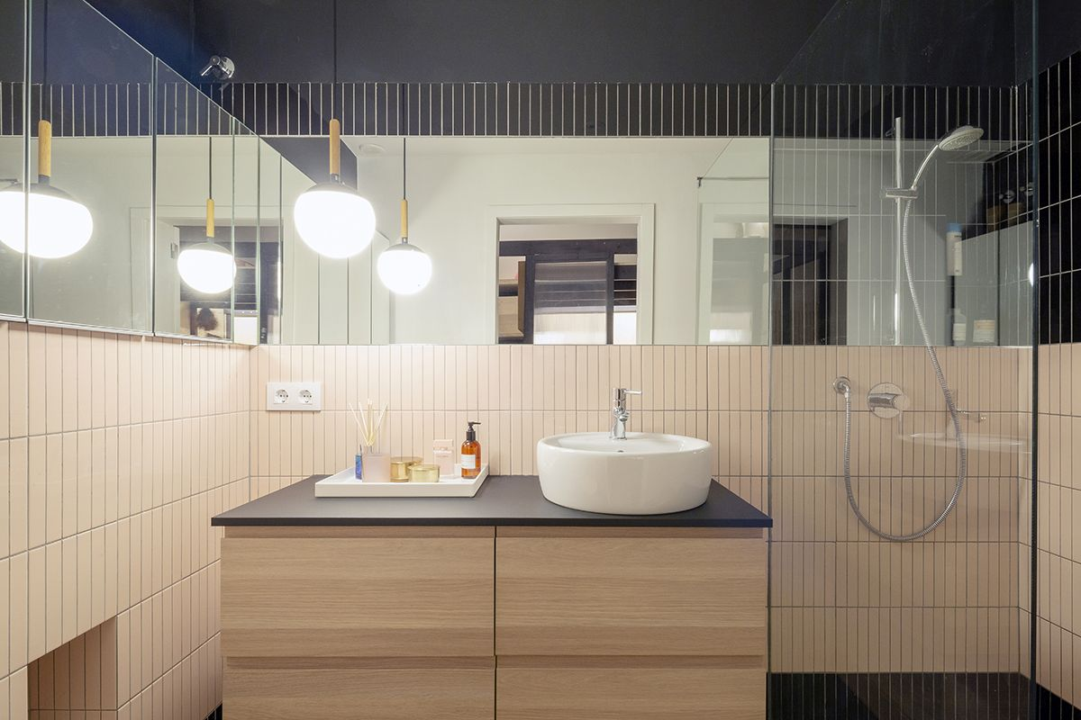 The bathrooms are also designed to look very welcoming and to include a variety of features