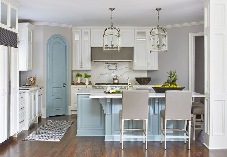 A kitchen island or bar can add more storage to this area