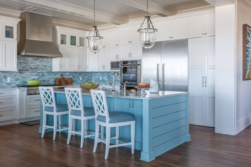 A large island or bar also adds more counter space to the kitchen