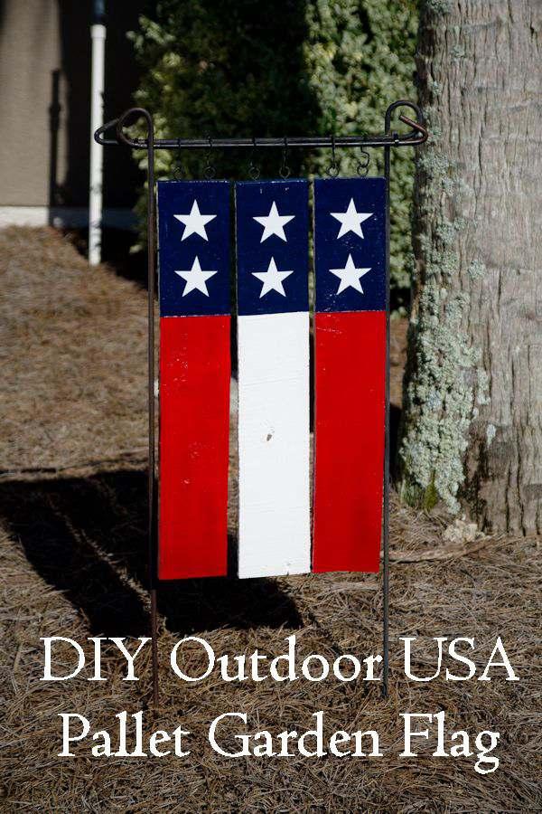 Craft a Flag DIY Garden Ideas