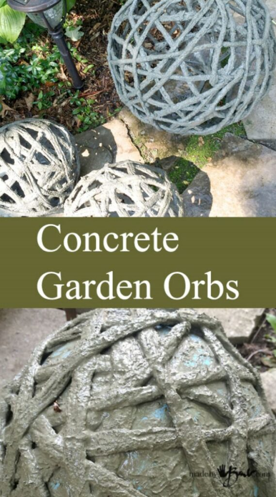 Decorate Your Garden With These DIY Concrete Orbs