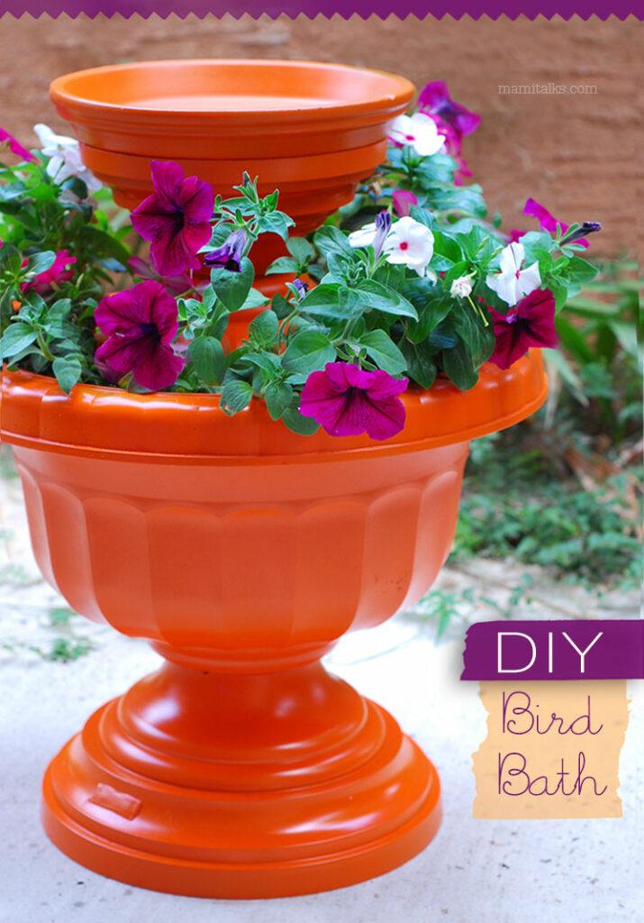 Design a Bird Bath Planter DIY Garden Ideas