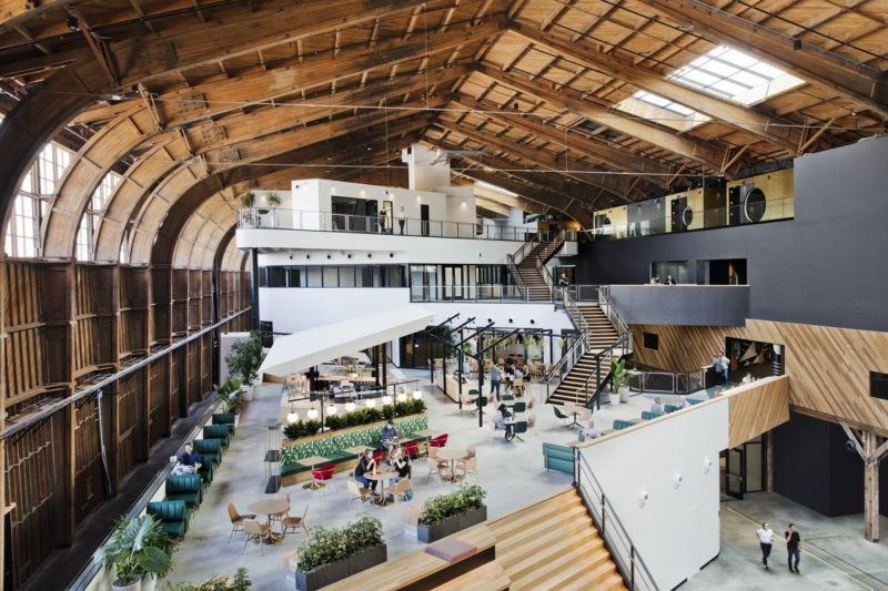 Google's New L.A. Office Sits Within A Historic Timber Hangar