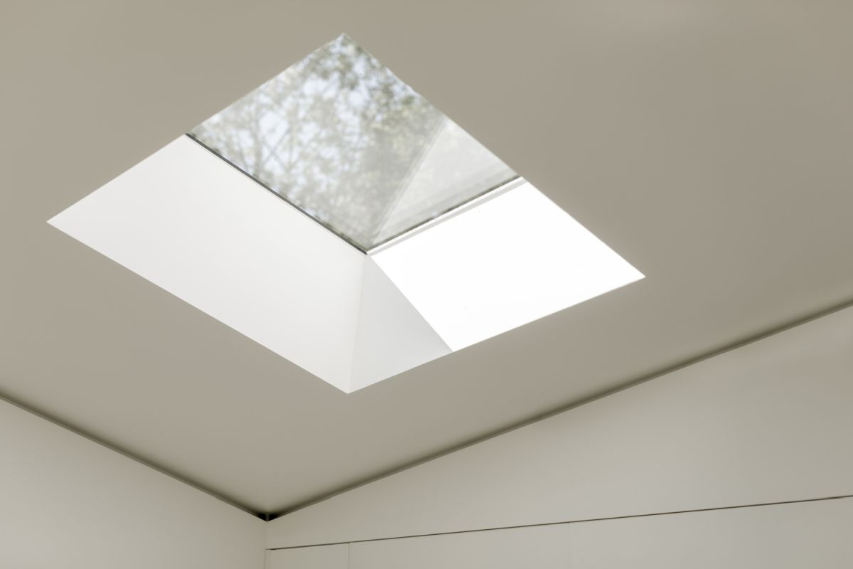 Skylights bring in additional sunlight and help maintain a clean and breezy ambiance