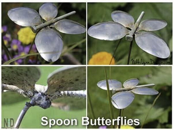 Place Cute Craft Butterflies DIY garden ideas