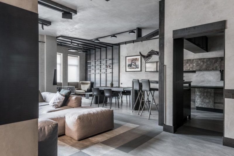 Modern Apartment Makes Gray Look Fresh And Exciting