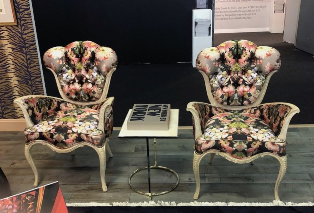 Ornate lines combine with trendy dark florals in these distinctive seats.