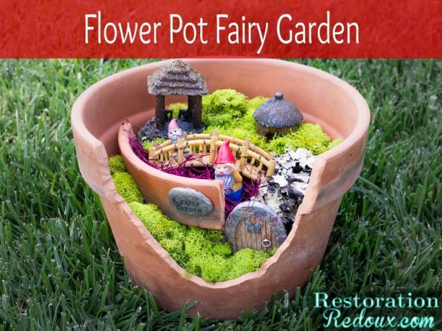 Turn a Broken Pot Into a Mini Fairy Garden