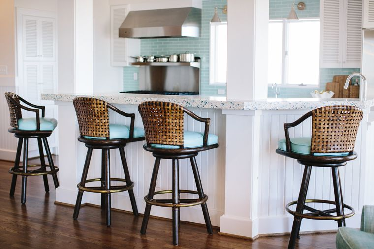 A kitchen island or a bar can have seating on more than one side
