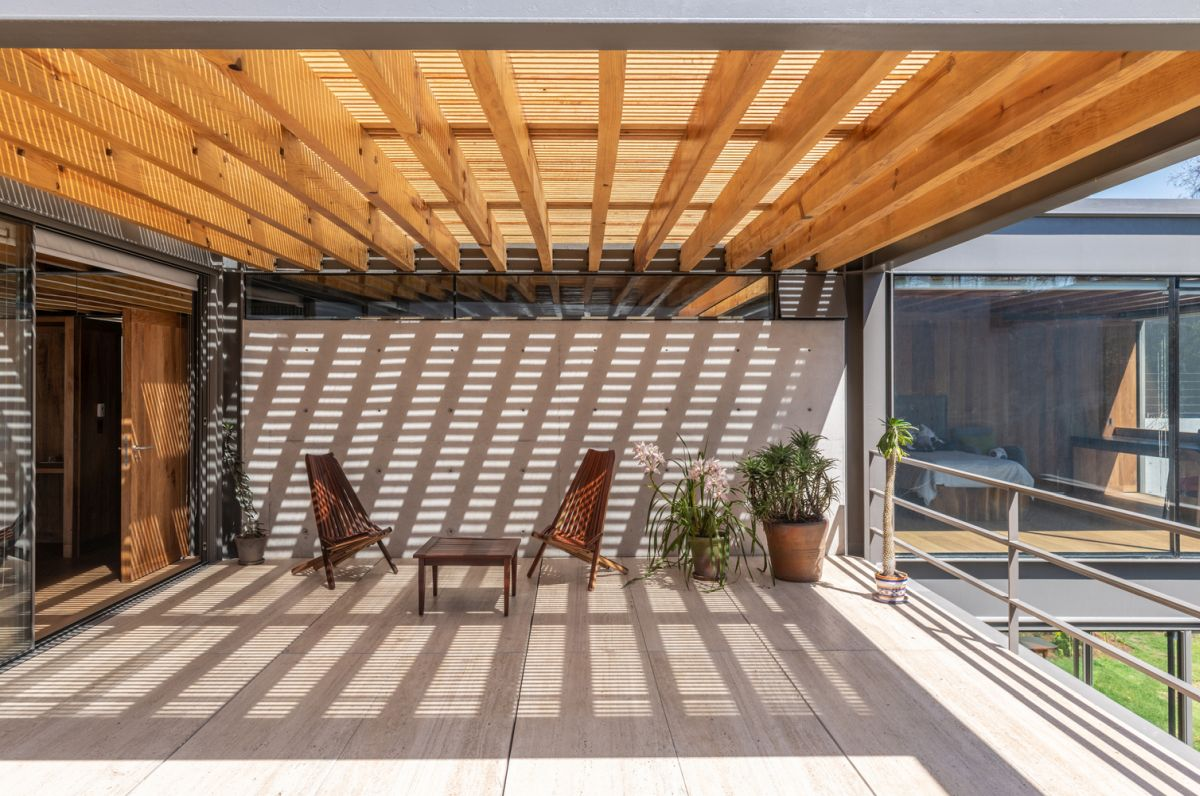 This is one of the numerous outdoor areas which function as seamless extensions of the indoor spaces