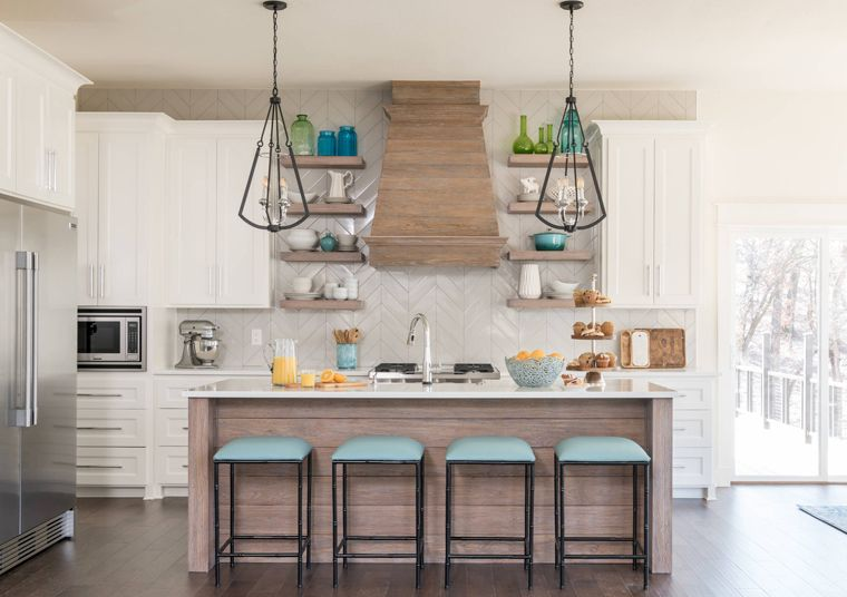 There's plenty of ways to mix styles when designing your kitchen island