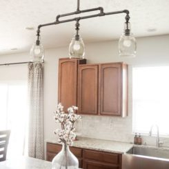 Ceiling industrial pipes lamp