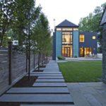 Clean lawn backyard design