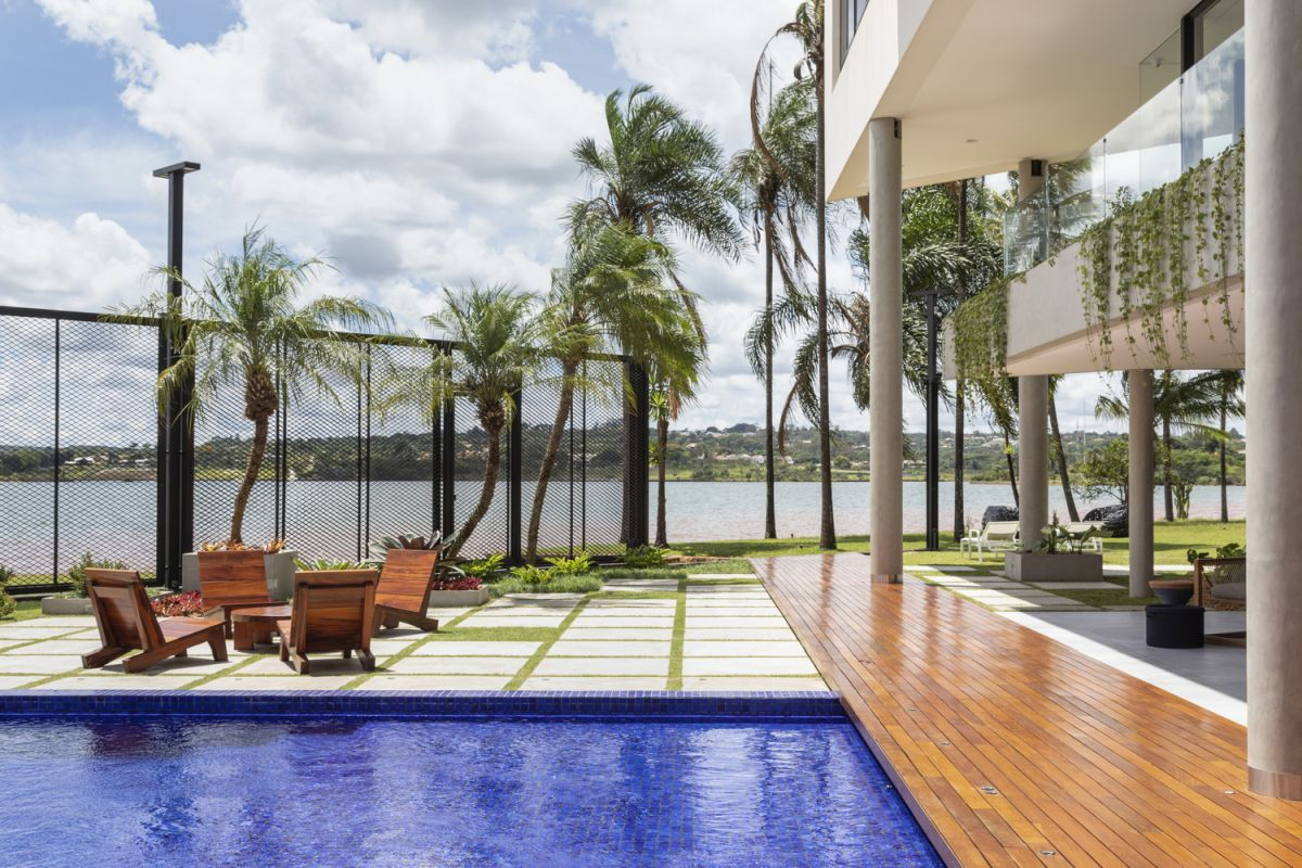 The views from the property are expansive and beautiful and the house takes advantage of that