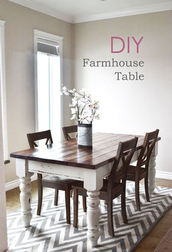 Diy Farmhouse Kitchen Table Projects, Farm Style Dining Room Table Plans