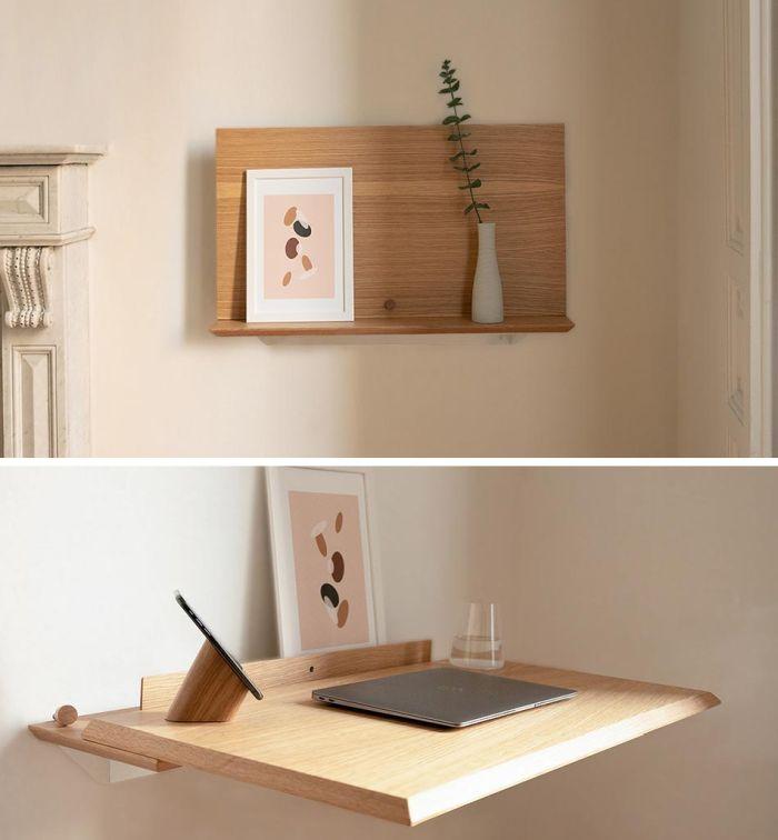 Disguise your desk as a shelf