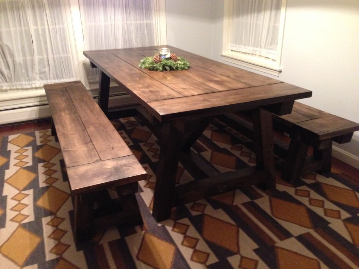 Diy Farmhouse Kitchen Table Projects