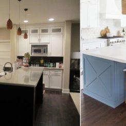 Kitchen coastal before and after