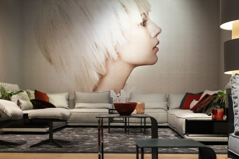 Turn an entire wall into the focal point of your living room with an eye-catching mural