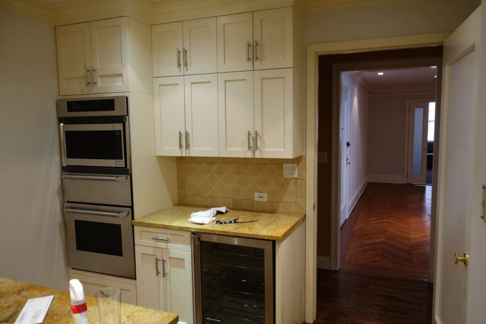 The layout of the kitchen also changed and this little area gained a completely new role