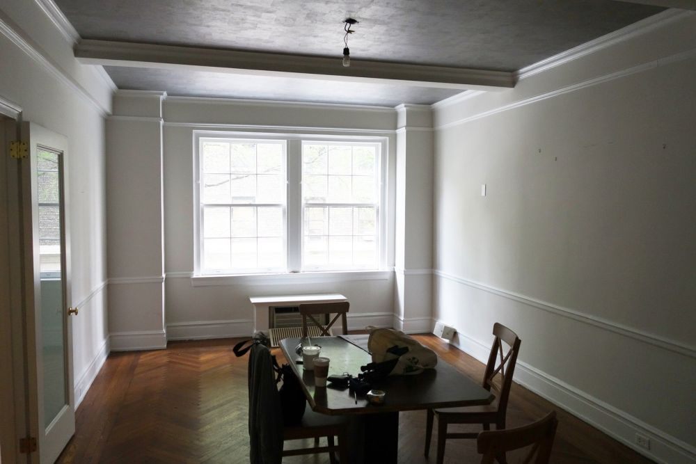 This is the formal dining room. Originally, it looked dark and rather austere
