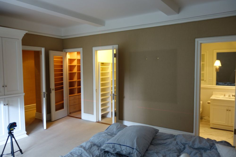 The original color for the master bedroom walls was brown which was warm and cozy but not very fresh